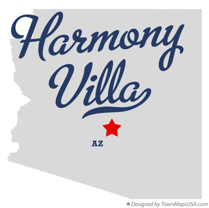 Map of Harmony Villa Arizona AZ