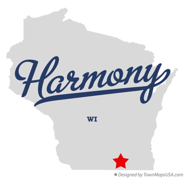 Map of Harmony Wisconsin WI