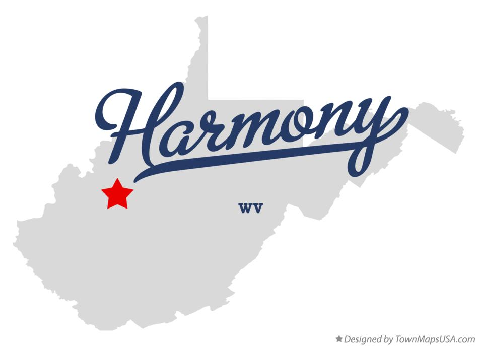 Map of Harmony West Virginia WV