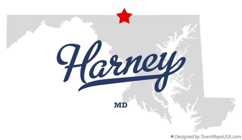 Map of Harney Maryland MD