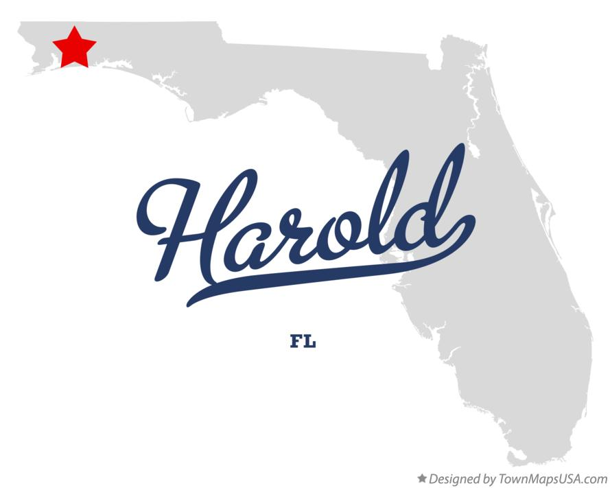 Map of Harold Florida FL