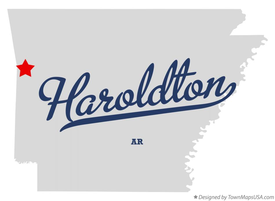 Map of Haroldton Arkansas AR