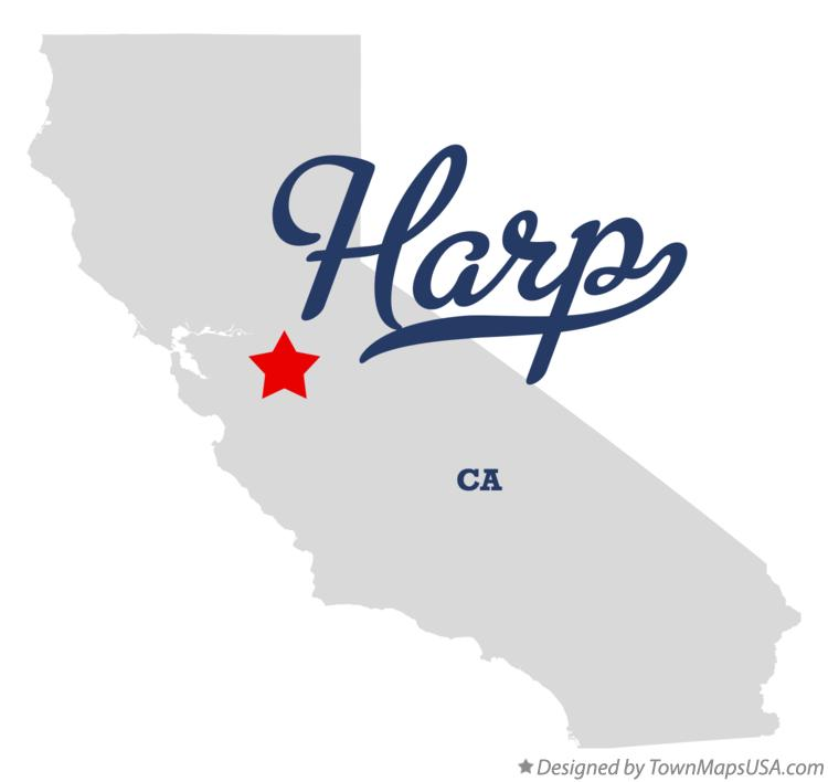 Map of Harp California CA
