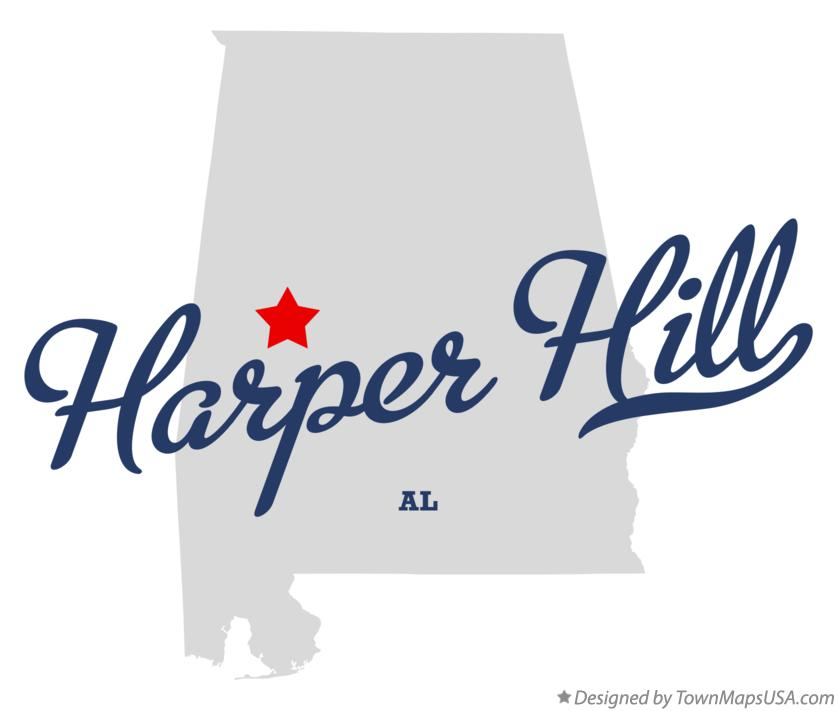 Map of Harper Hill Alabama AL