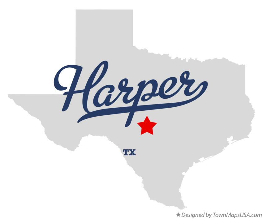 Map of Harper Texas TX