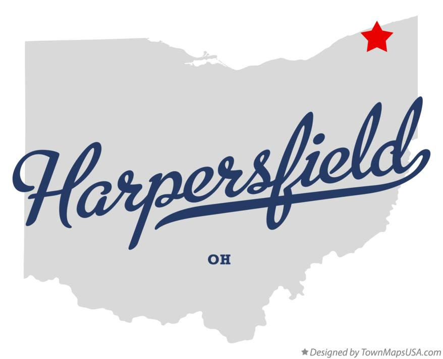 Map of Harpersfield Ohio OH