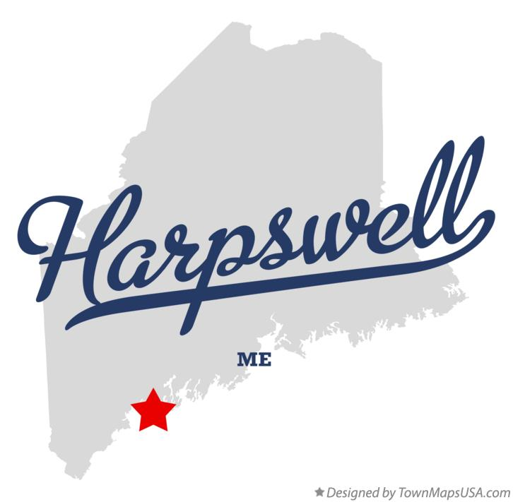 Map of Harpswell Maine ME