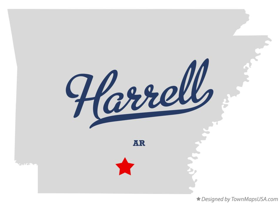 Map of Harrell Arkansas AR