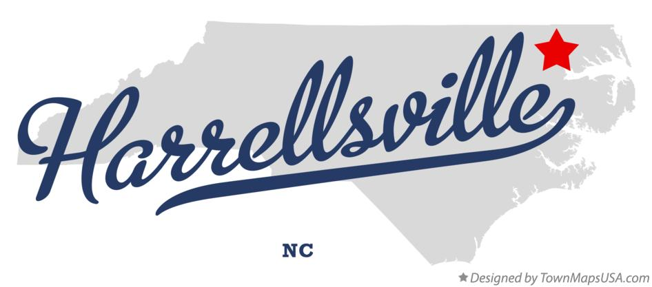 Map of Harrellsville North Carolina NC