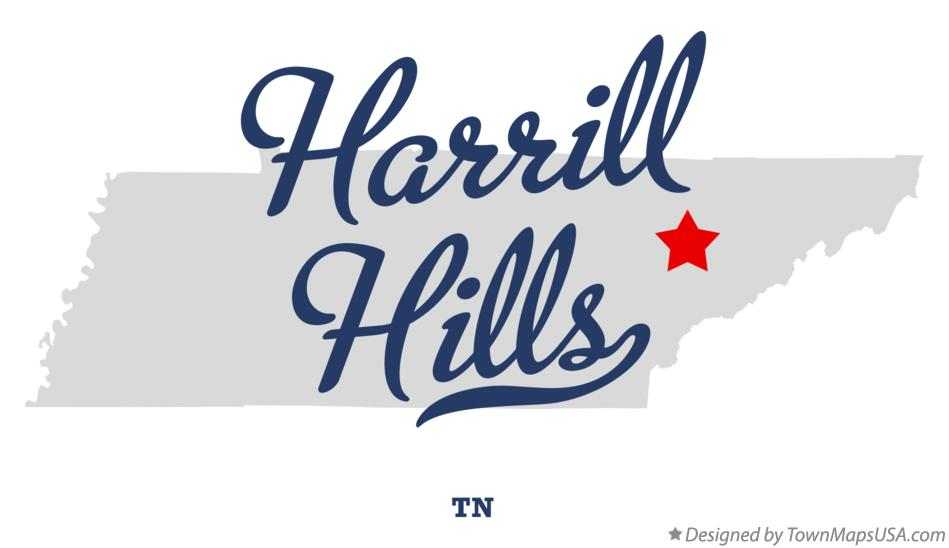 Map of Harrill Hills Tennessee TN