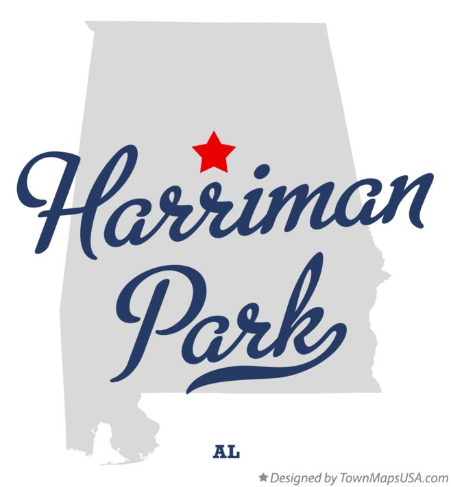 Map of Harriman Park Alabama AL