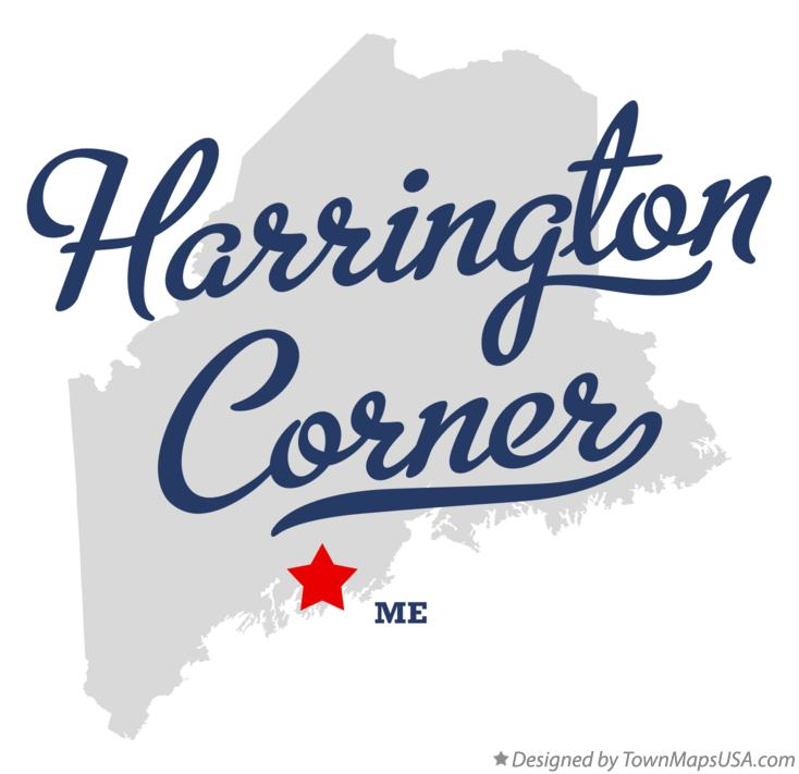 Map of Harrington Corner Maine ME