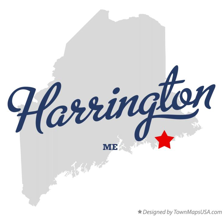 Map of Harrington Maine ME