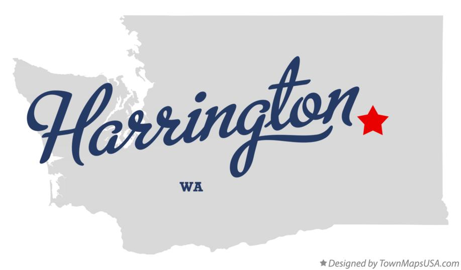 Map of Harrington Washington WA