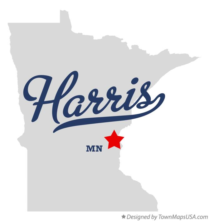 Map of Harris Minnesota MN