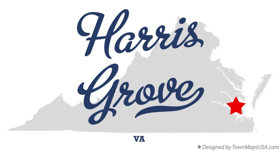 Map of Harris Grove Virginia VA