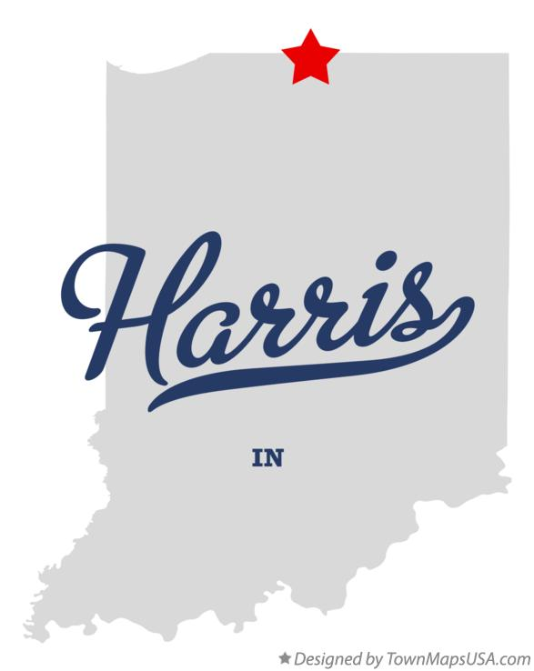Map of Harris Indiana IN
