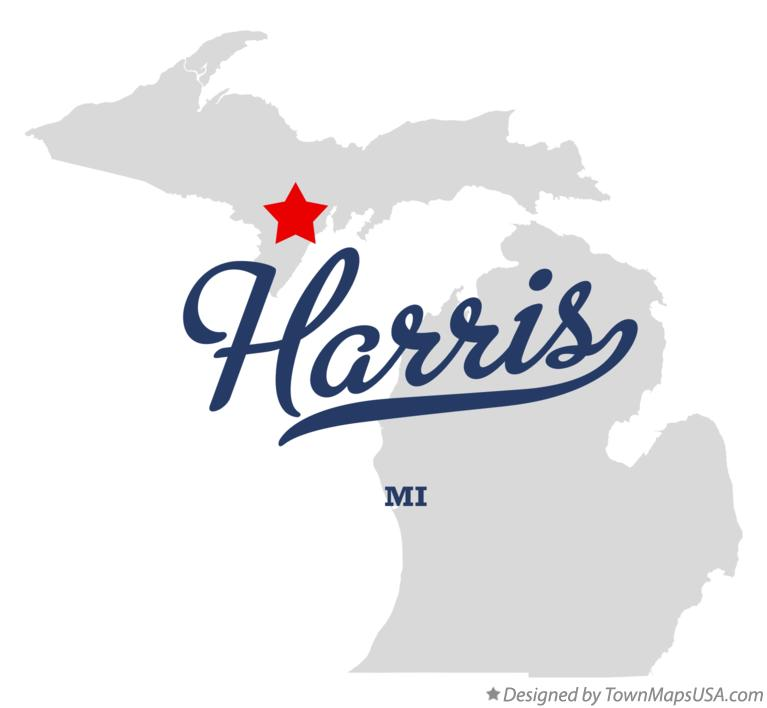 Map of Harris Michigan MI