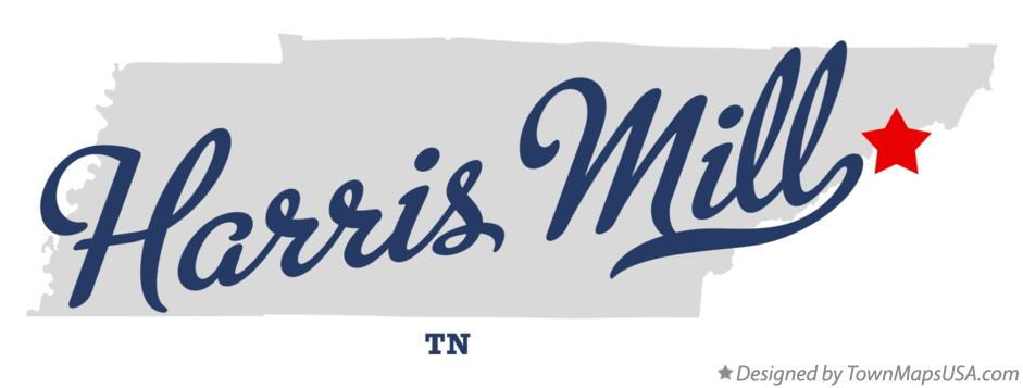 Map of Harris Mill Tennessee TN