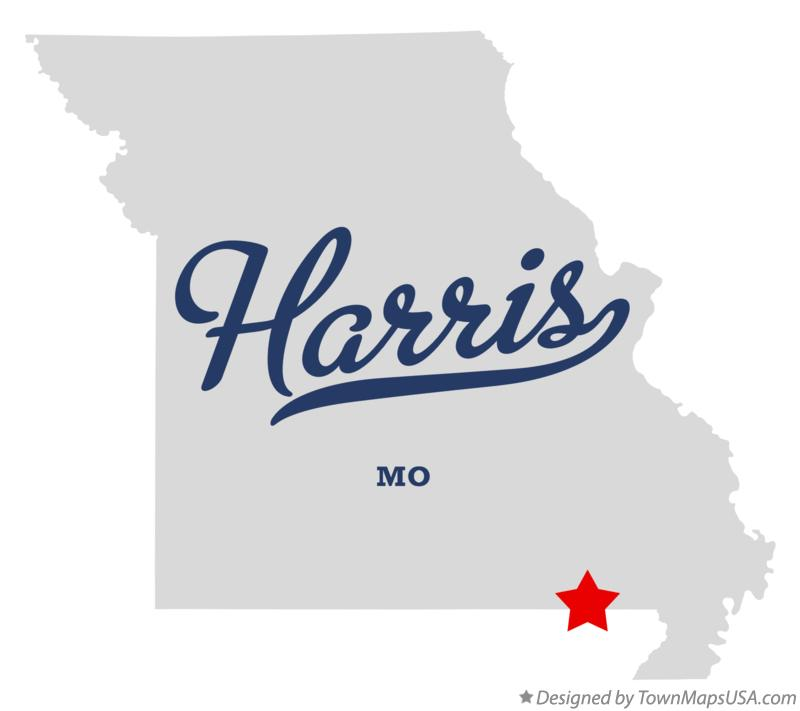 Map of Harris Missouri MO