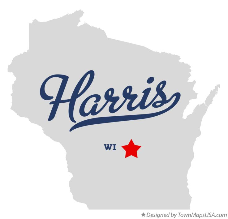 Map of Harris Wisconsin WI
