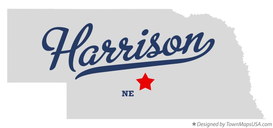 Map of Harrison Nebraska NE