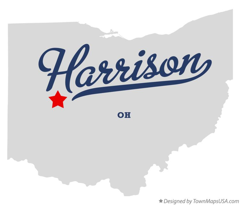 Map of Harrison Ohio OH