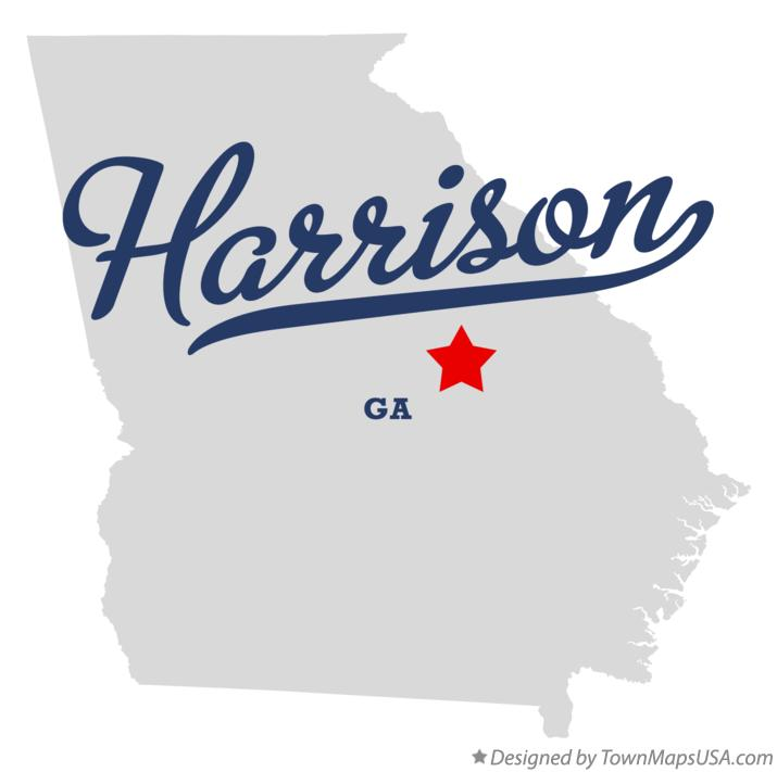 Map of Harrison Georgia GA