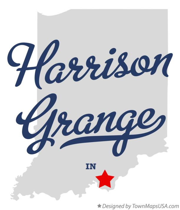 Map of Harrison Grange Indiana IN