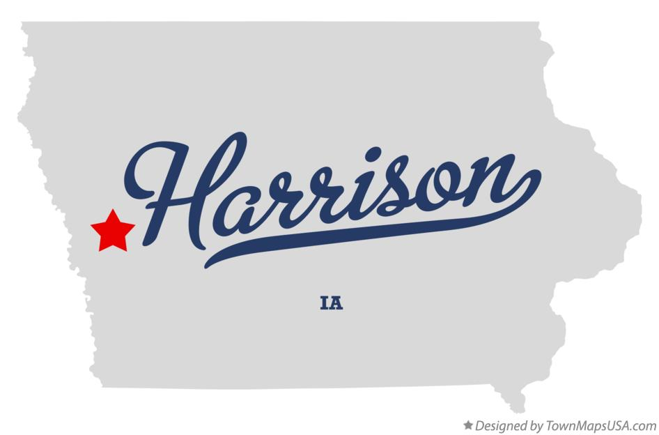 Map of Harrison Iowa IA