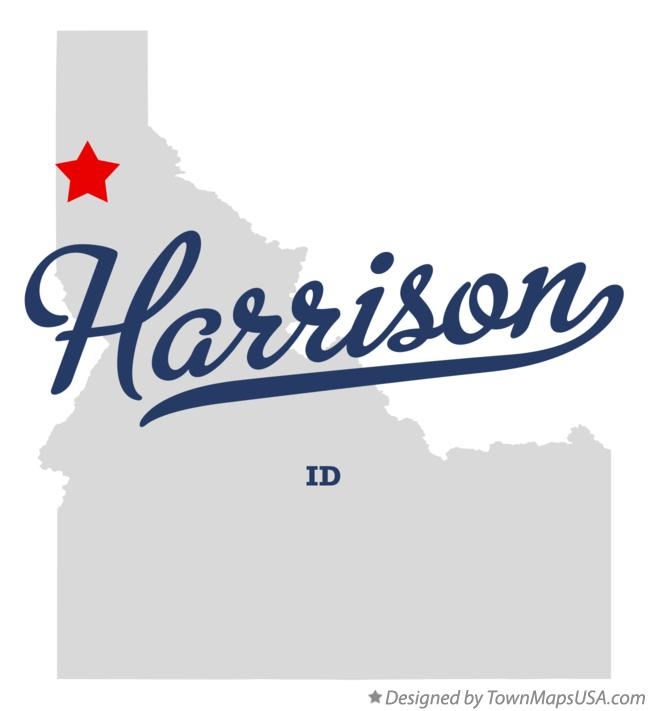 Map of Harrison Idaho ID