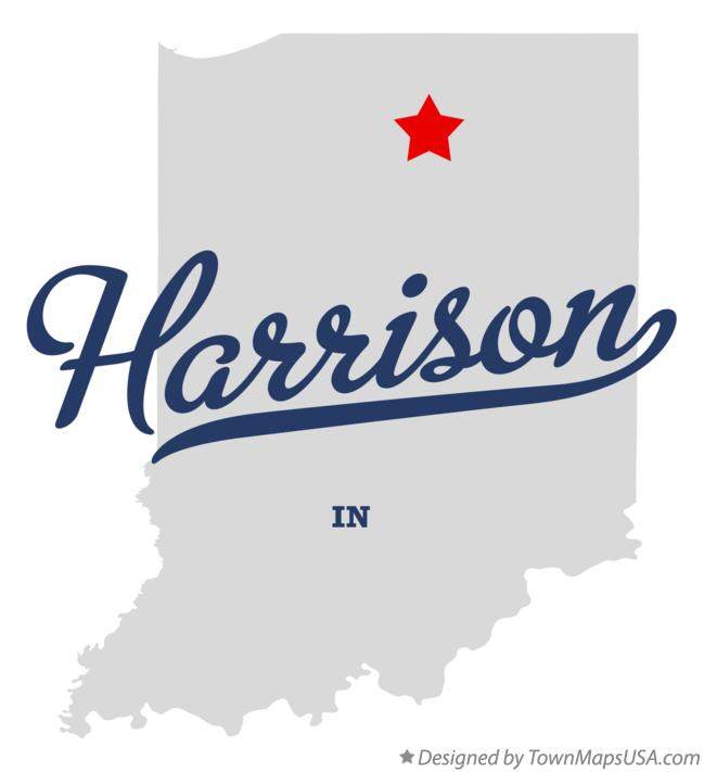 Map of Harrison Indiana IN