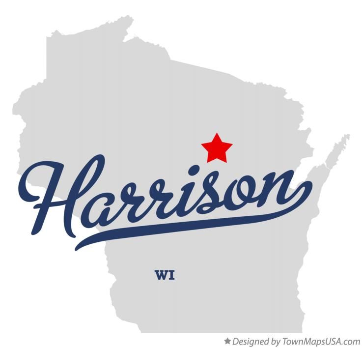 Map of Harrison Wisconsin WI