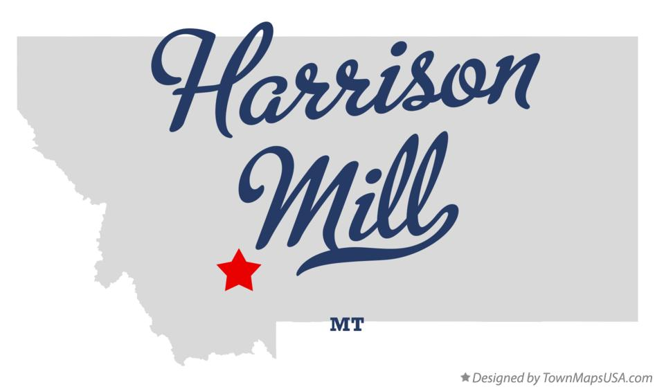 Map of Harrison Mill Montana MT