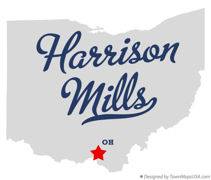 Map of Harrison Mills Ohio OH