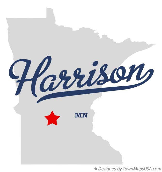 Map of Harrison Minnesota MN