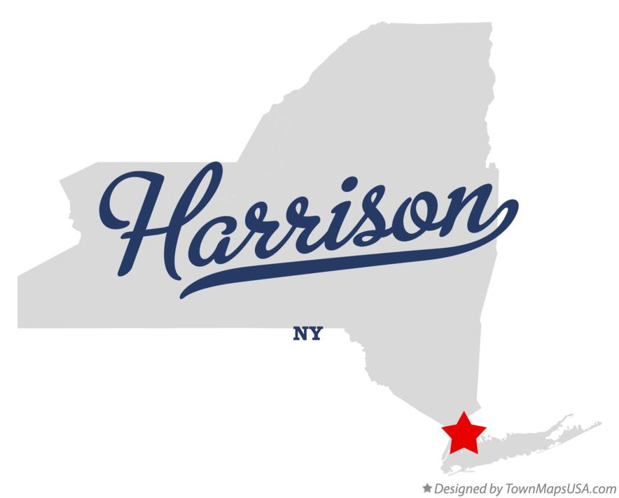 Map of Harrison New York NY
