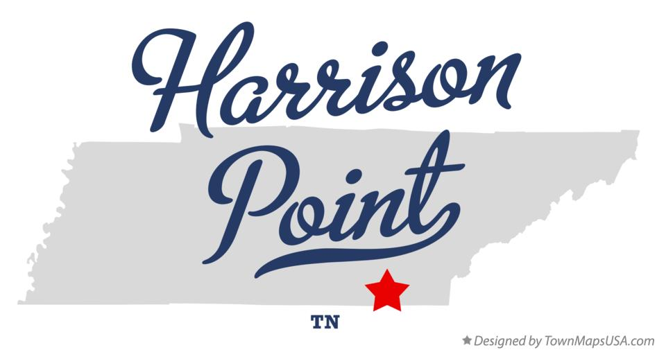 Map of Harrison Point Tennessee TN
