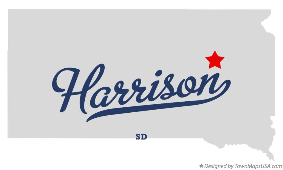 Map of Harrison South Dakota SD