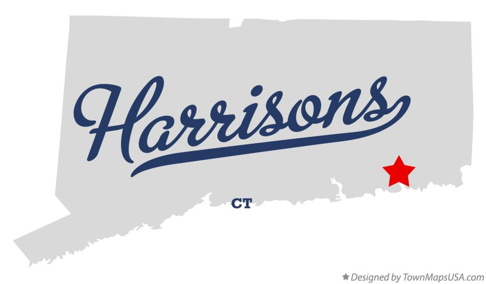 Map of Harrisons Connecticut CT