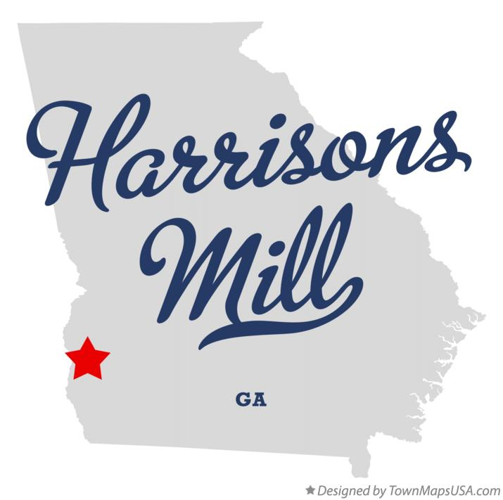 Map of Harrisons Mill Georgia GA