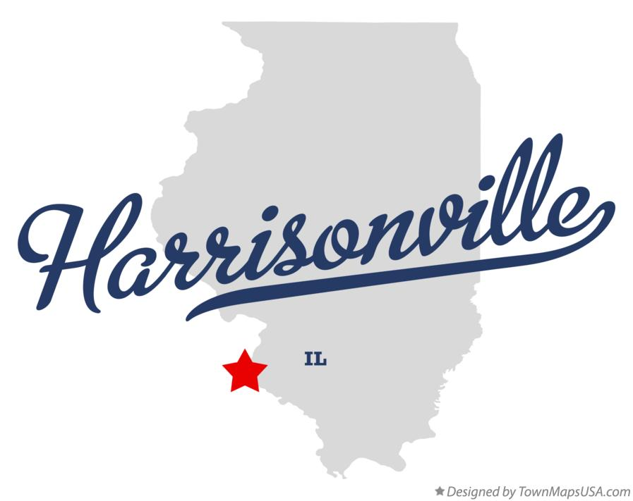 Map of Harrisonville Illinois IL