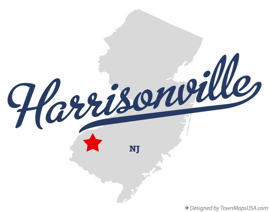 Map of Harrisonville New Jersey NJ