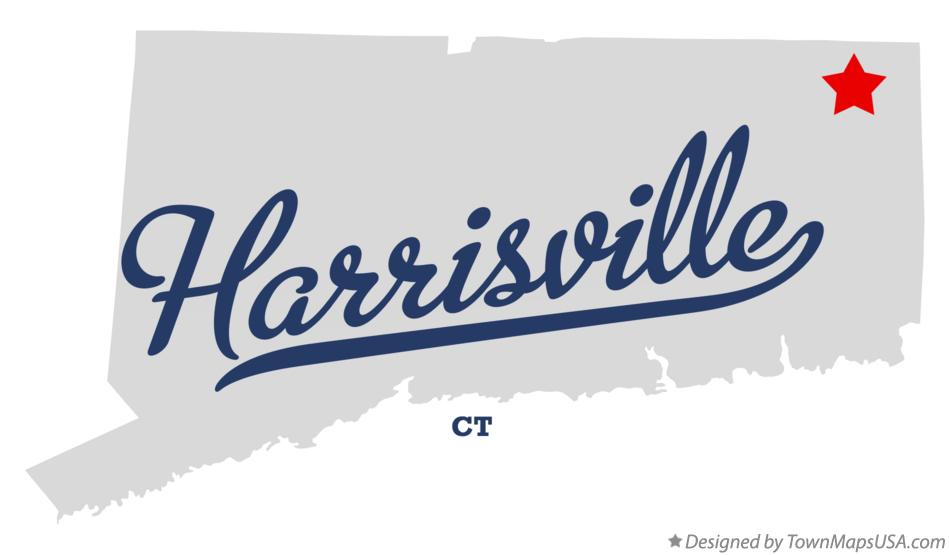 Map of Harrisville Connecticut CT