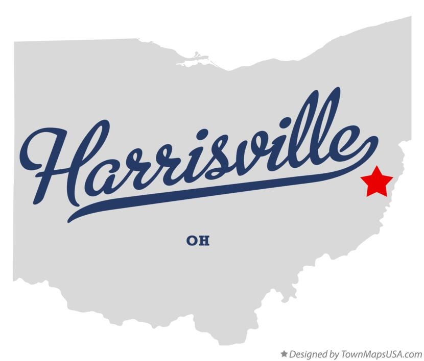 Map of Harrisville Ohio OH