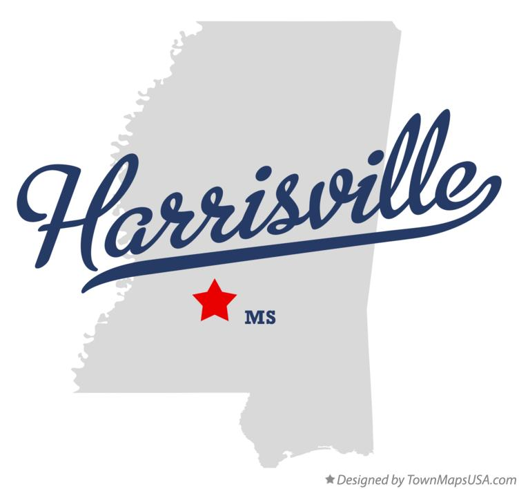 Map of Harrisville Mississippi MS