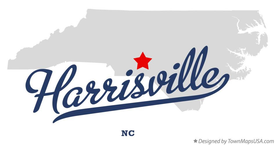Map of Harrisville North Carolina NC
