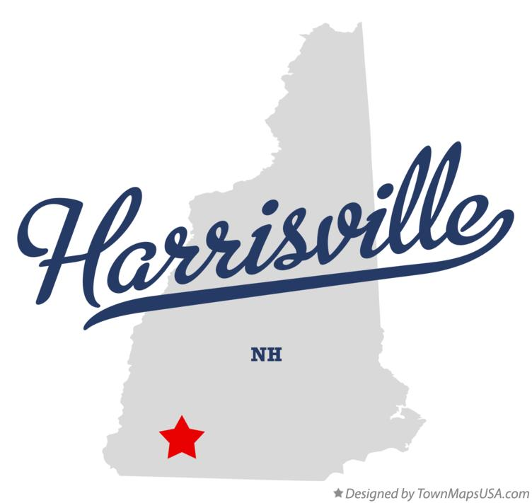 Map of Harrisville New Hampshire NH