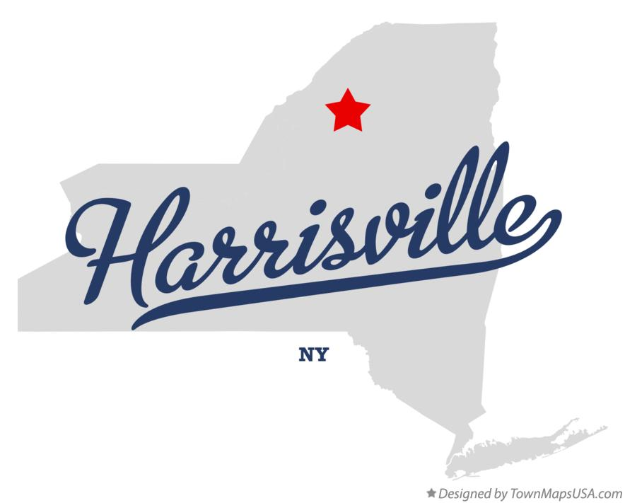 Map of Harrisville New York NY