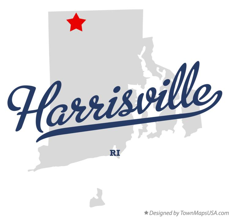 Map of Harrisville Rhode Island RI